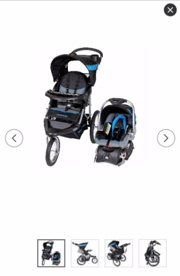Babytrend Baby S Black And Blue Travel System Jogger Stroller Car Seat Incl