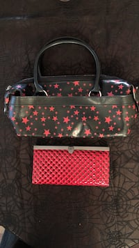 Black and red stars tote bag
