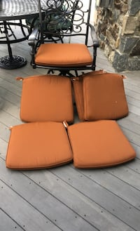 6 Double Piped Sunbrella Outdoor Chair Cushions