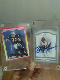 Signed Bo Jackson and Randy Moss cards Austin, 78744