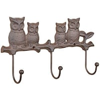 Brand New Cast Iron Indoor and Outdoor Owl Wall Hook New Westminster