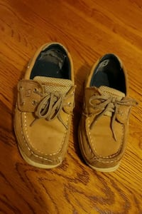 Sperry Boat Shoes size 12 kids with velcro