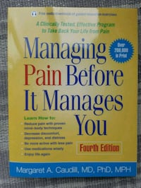 MANAGING PAIN BEFORE IT MANAGES YOU Cambridge, N1R 6M2