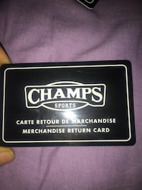 CHAMPS STORE CREDIT