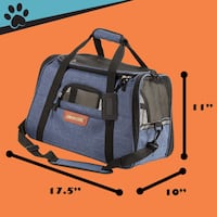 Airline approved pet carrier soft-sided cat/dog carrier LARGE