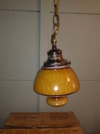 Retro 70's Swag Lamp null