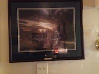 Never Against Virginia by John Paul Strain Framed LE Lithograph  Manassas, 20110