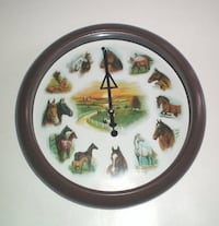 Horse Sound Wall Clock with Ruane Manning Drawings