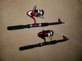 Collapsible fishing rods.  $16 for both