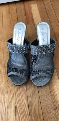 pair of gray glittered slip on shoes Laval, H7P 1P8