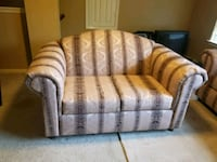 brown and white fabric 3-seat sofa Missouri City, 77459