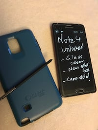 Samsung Note 4 - 32GB with SD card Unlocked - Camouflage skin 538 km