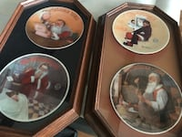 NORMAN ROCKWELL CHRISTMAS PLATES WITH FRAMES 1983-1986 Westminster, 92683