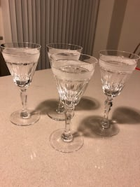 Crystal glass set of 4 Mississauga, L5A 0A7