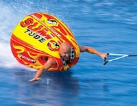 Great fun tube for your boat.  Easy yet fun to ride for all ages  Lutz, 33558