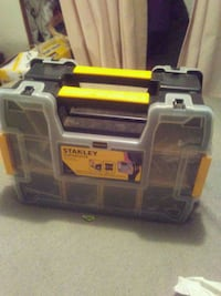 gray and black Stanley tool chest