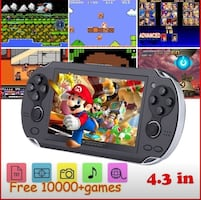 4.3 inch video game console, 10000 games  MP4 MP5 players handheld