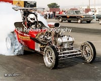 8x10 Drag Racing Photo McGowen & McCarthy HAIRTRIGGER AA/FA Fremont Last Drag Race 1988 Smyrna