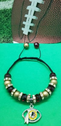 green and brown beaded necklace 61 km