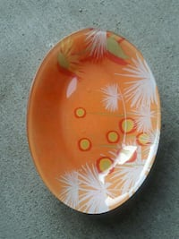 round brown and white floral ceramic bowl Burbank, 91504