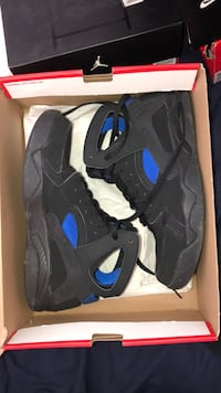 black-and-blue Air Jordan 7 shoes Toronto, M5V