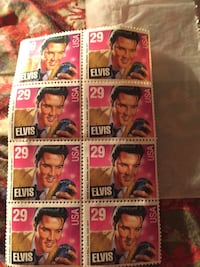 Nine Elvis postage stamps Orlando, 32818