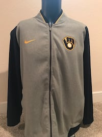 Brewers Nike Track Jacket, Size XL Milwaukee