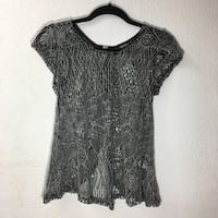 Netted fly-away blouse Honolulu, 96814