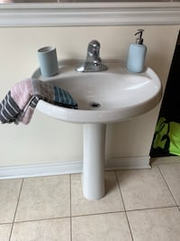 White and gray ceramic sink Burlington, L7M 0H3
