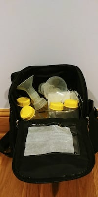 Pump-In-style advanced breast pump in backpack