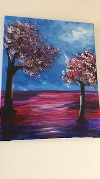 Painting cherry blossoms home decoration