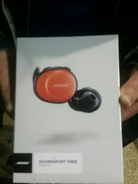 BOSE red and black wireless bud  headphones