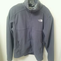 PREWORN: mens medium The North Face fleece grey jacket  - nice pre own Edmonton, T6X 1J9