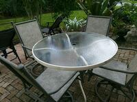 round white metal framed glass patio table Palm Harbor, 34683