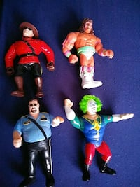 1990'S WWF HASBRO WRESTLING FIGURES- DOINK,WARRIOR