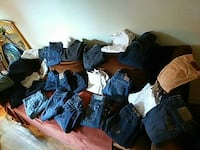 Jeans and khakis new or barely worn