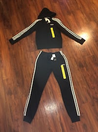 Black adidas track suit/brand new size small