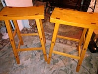 Solid wood bar stools in new condition $50  for both Birmingham, 35217