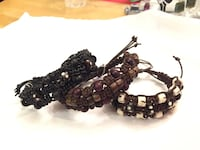 Black and brown leather beaded bracelets Calgary, T2W 3P3