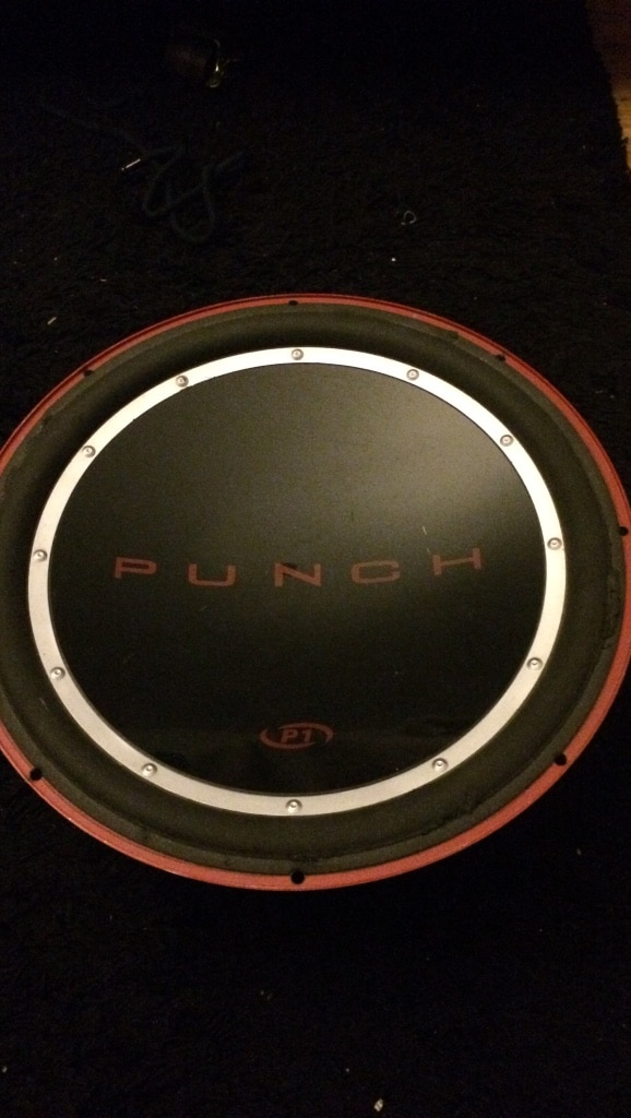 black Punch subwoofer speaker