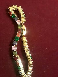 green and white beaded necklace Plano, 75023