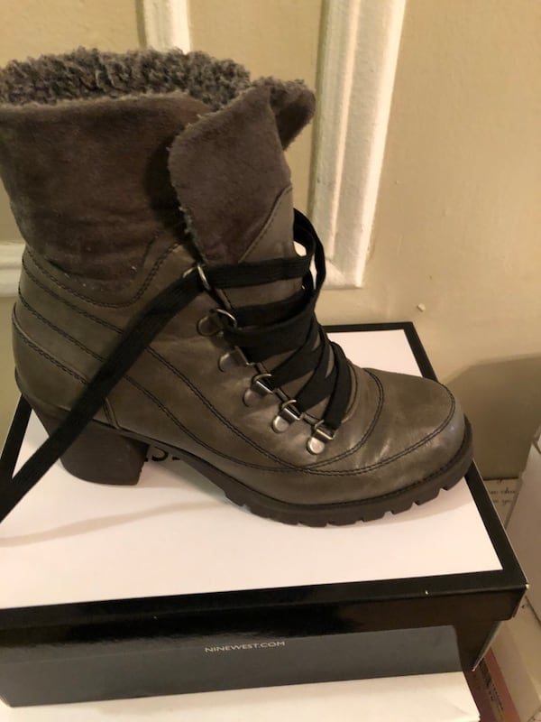 Gray fur lined ankle boots. Brand new never worn size 8 1/2 eec84891-20e2-48de-bfaf-0e00c34c564a