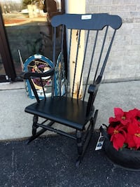 26504 Wooden Painted Rocking Chair / Black 60081