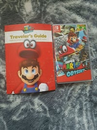 Nintendo Switch game Mario Odyssey with travelers guide  Edmonton, T5C