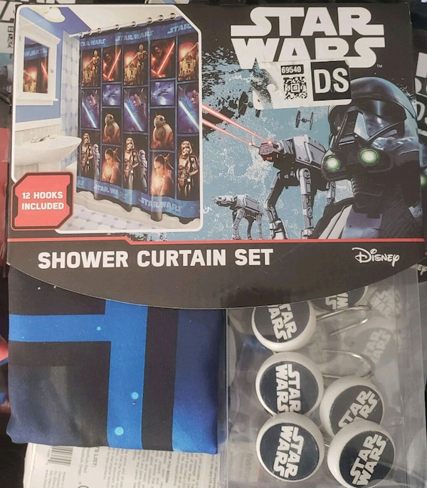 Used Star Wars Shower Curtain Set With Hooks New For Sale In San Antonio
