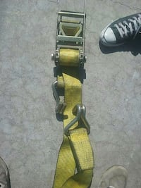 yellow ratchet strap