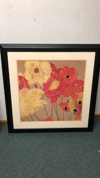"""Wall Decor Framed and Matted 24"""" x 24"""" """"Poppies"""" Livonia, 48150"""