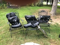 Harley seats, saddle bags and stock pipes Wells, 04090