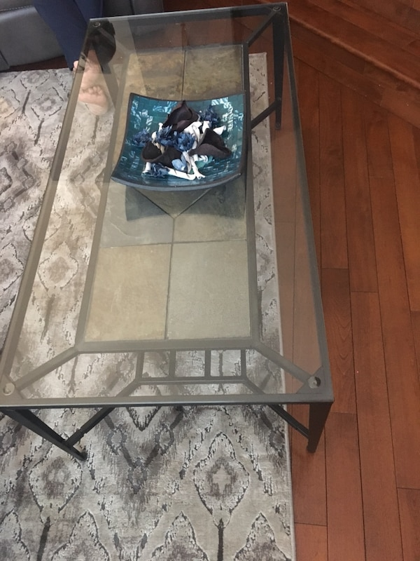 Two side tables and a middle