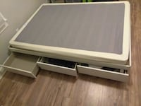 Storage bed full size with 3 drawers white Lake Worth